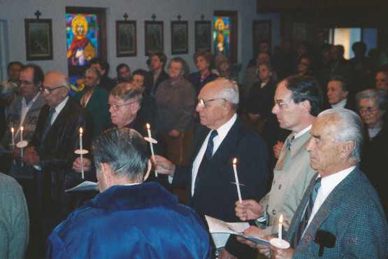 Blessing Brotherhood Serving in Ukrainian Byzantine Immaculate Conception Church in Palatine, Illinois