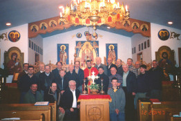 Brotherhood at IC Ukrainian Greek-Catholic Church in Palatine, Illinois