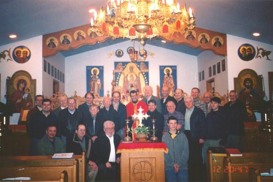 Brotherhood at IC Ukrainian Greek-Catholic Church in Palatine, Illinois