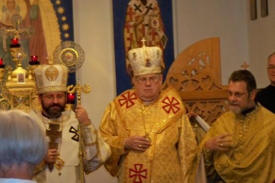 Solemn of Patriarch Sviatoslav Shevchuk on Divine Liturgy at Immaculate Conception Ukrainian Catholic Church in Palatine, IL