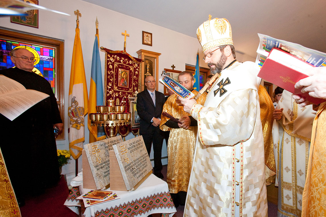 Patriarch Sviatoslav Shevchuk blessed commemorative stones to build new Church Shrine in Palatine