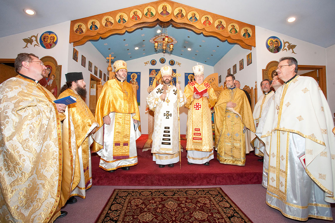 Divine Liturgy with Patriarch Sviatoslav Shevchuk at Immaculate Conception Ukrainian Catholic Church in Palatine