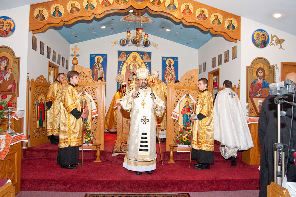 Mass with Patriarch Sviatoslav in Ukrainian Immaculate Conception Catholic Church in Palatine