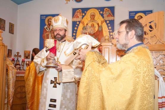 Patriarch Sviatoslav during Divine Liturgy at Immaculate Conception Ukrainian Greek Catholic Byzantine Church in Palatine | Patriarch of UGCC
