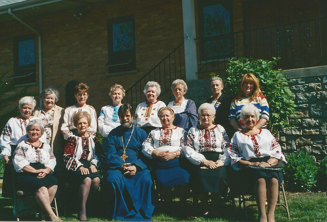 Sisterhood and Pastor Father Mykhailo at IC Ukrainian Greek Catholic Church, Palatine