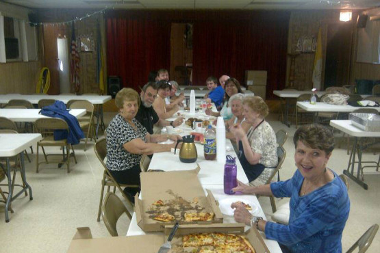 Picnic preparation at Ukrainian Immaculate Conception Church in Palatine