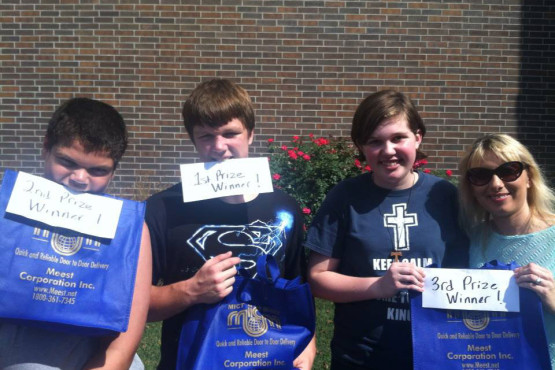 Picnic pyrohy eating contest winners at Ukrainian Immaculate Conception Catholic Church in Palatine