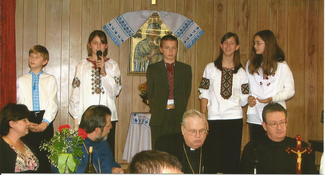 Children Perfomance at Ukrainian Catholic Shrine of Immacule Conception and Ukrianian Martyrs in Palatine, IL