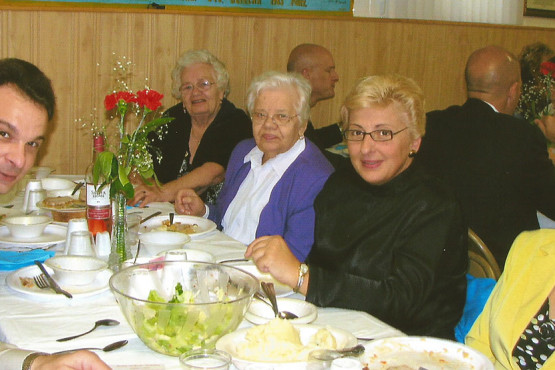 Parishioners at Ukrainian Immaculate Conception Church