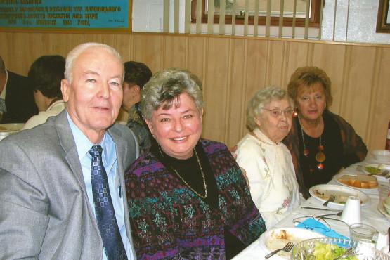 Parishioners at Ukrainian Catholic IC Church in Palatine, IL