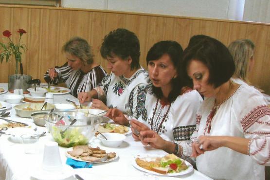 Parishioners at Ukrainian Catholic IC Shrine in Palatine, IL
