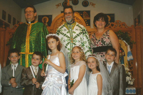 First Holly Communion at Immaculate Conception Ukrainian Byzantine Catholic Church in Palatine