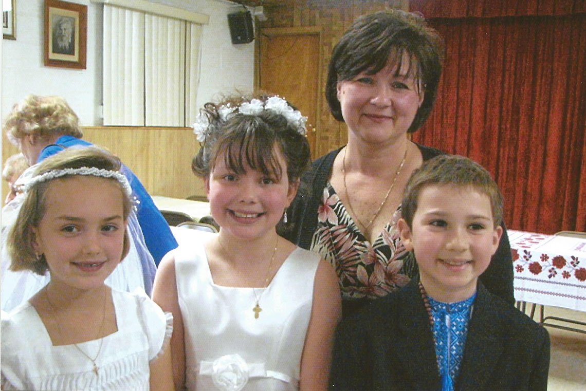 First Solemn Communion at Immaculate Conception Ukrainian Catholic Church in Palatine, IL