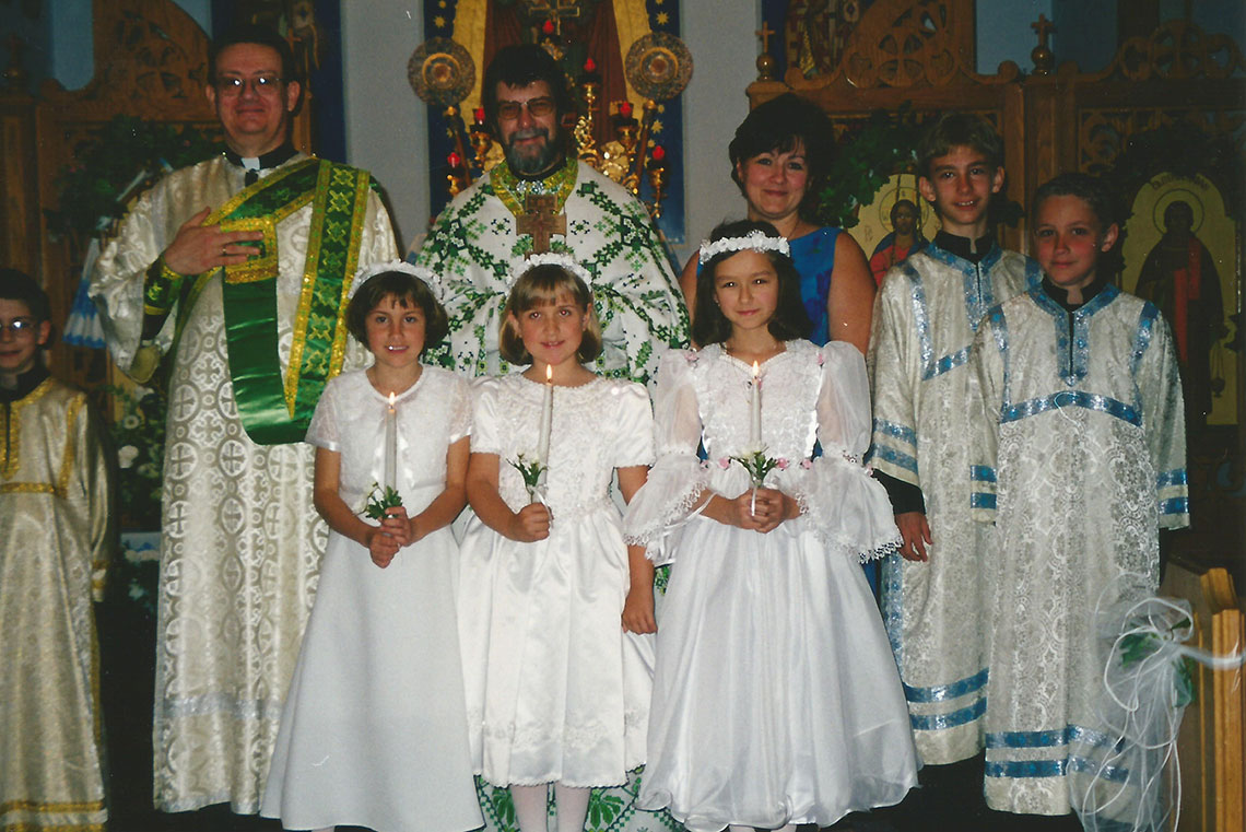 First Solemn Communion of Children at I.C. Ukrainian Catholic Church in Palatine, IL