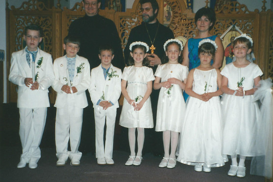 Boys and Gils Received First Solemn Communion at I.C. Ukrainian Catholic Church in Palatine, IL