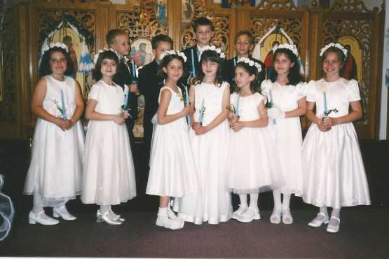 Children Receive First Solemn Orthodox Communion at I.C. Ukrainian Orthodox Church in Palatine, IL