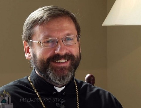 "Kyiv Greek Catholic archbishop Vyacheslav Shevchuk tells ""Orthodox brothers"" not to believe propaganda"