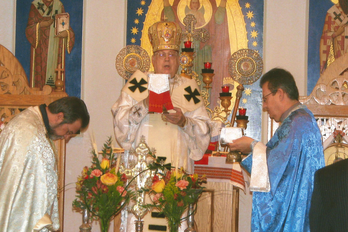 Bishop Richard on Divine Liturgy at Immaculate Conception Catholic Church in Palatine