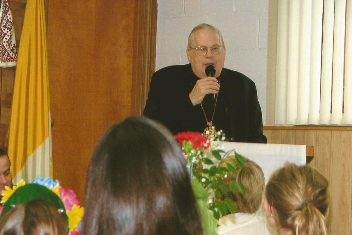 Bishop Richard's solemn for children at IC Catholic Church in Palatine, IL