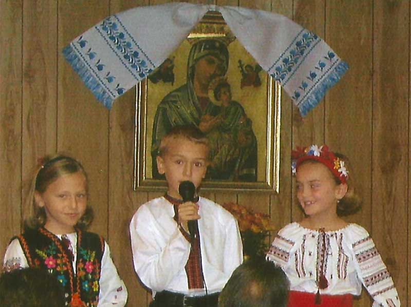 Children performance at Immaculate Conception Ukrainian Church in Palatine, Illinois