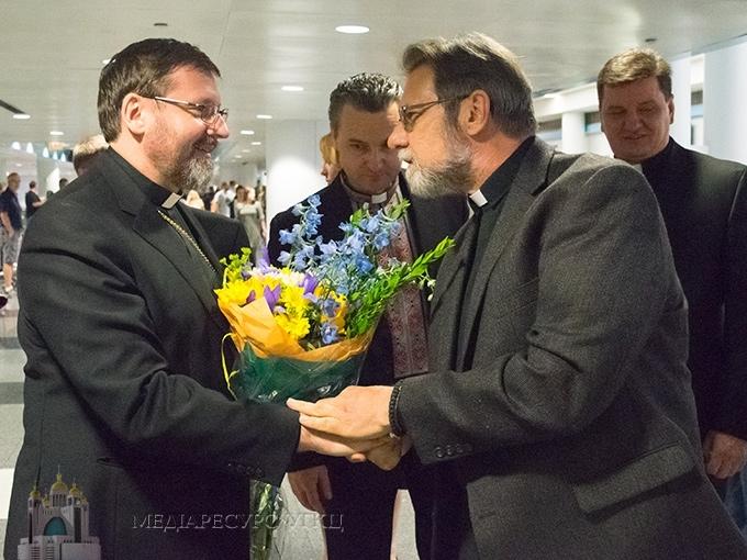 Patriarch Sviatoslav and Father Mykhailo Kuzma Permanent Synod May 2016