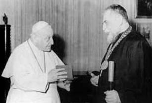 Pope John XXIII and Patriarch Josyf Cardinal Slipyj, 1963
