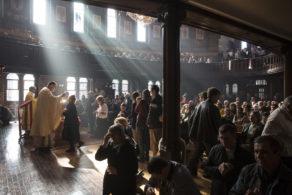 Ukrainians Meet For Weekly Church Service In London