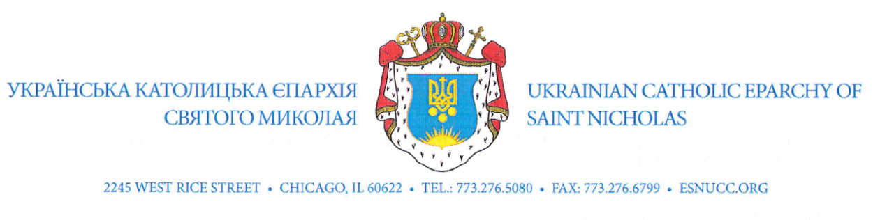 UKRAINIAN CATHOLIC EPARCHY OF SAINT NICHOLAS